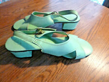 Es Originals True Vintage 1960s Lime Green Sandals 8-8.5 Wow!