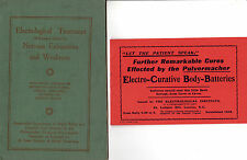 ELECTROLOGICAL TREATMENT FOR NERVOUS EXHAUSTION & WEAKNESS - VINTAGE 1923 MANUAL