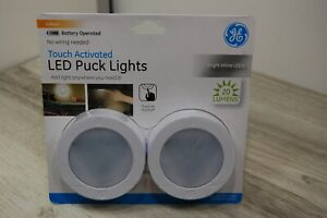 GE Touch Activated LED Indoor Puck Lights 20 Lumens 25434 New