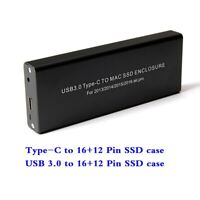 Type-C USB3.0 to 16+12 Pin Enclosure for Macbook Air Pro 2013 2014 2015 Case