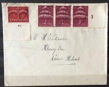 NEDERLAND; NVPH 406 + 409 op brief met dagtekenst. HEKELINGEN (Z.H.) 16-12-43