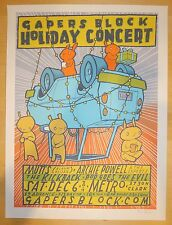 2014 Gapers Block Holiday Concert - Silkscreen Concert Poster S/N by Jay Ryan
