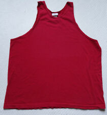 Vtg Red Tank Top Tanktop Muscle T Tee Shirt Boxy Made in USA Pro Spirit 80's 80s