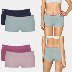Sloggi Women's mOve Seamless Shorty Shorts Knickers 2 Pack 10198212 RRP £22.00