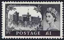 1963 £1 Black Castles High Value SG598a Crowns Watermark Unmounted Mint
