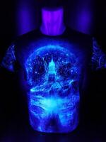 "Herren T-Shirt ""Cyber Gordon"" mit Druck UV aktiv Schwarzlicht Neon PSY"