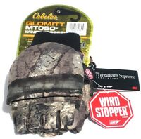 Cabela's MT050 Extreme Thinsulate Insulated Men's Hunting Camo Glomitts Gloves