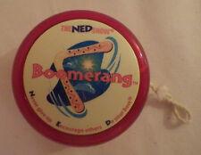 The Ned Show Yo Yo Red Boomerang Cool Rare