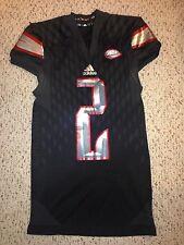 2015 Adidas Louisville Cardinals #2 Jamari Staples BLACKOUT Football Game Jersey