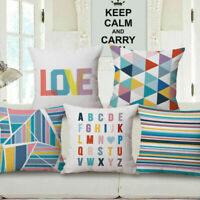 """18"""" Decorative Bright Color Geometry Throw Pillow Cover Case Cushion Couch"""