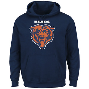 Majestic Men's NFL Critical Victory Pullover Hoodie Bears M #NINF3-222