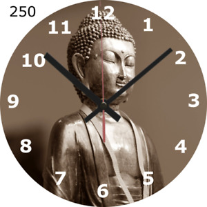 WALL CLOCK BUDDHA 25cm Meditation Spiritual Relaxing Zen Home Decor diy 250...
