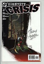 Identity Crisis (2004) #5 Signed by Rags Morales no Coa Brad Meltzer Jla Nm-