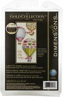 """Dimensions Counted Cross Stitch Kit 4""""X8""""-Let's Fly Away (18 Count)"""