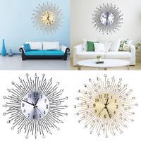 orologio da parete con quadrante in alluminio, rotondo e silenzioso