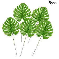 5x künstliche Große Monstera Zweig Farn Schildkröte Blatt Faux Laub Blätter heiß