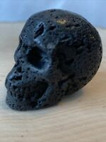"""2"""" Natural Hot Lava Stone Quality Crystal Skull  Stone Hand Carving - US Seller"""