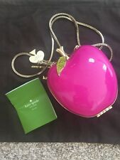 Brand new Kate Spade New York Far From The Tree Resin Pink Apple Bag Clutch