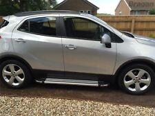 To Fit 2017+ Vauxhall Opel Mokka X Polished Aluminium Side Steps Running Boards