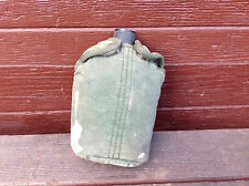 Vintage Aluminum Military Canteen With Snap Cover, Made in Taiwan
