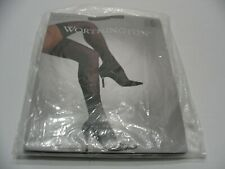 WORTHINGTON - BLACK - VERY SHEER LEG INVISIBLE TOE SIZE 2 LACE TOP THIGH HIGHS!