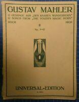 Gustav Mahler Gesänge aus des Knaben Wunderhorn 2 No7-12 Nr.1693a  B-24824