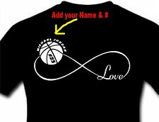 Personalized Infinity Love Basketball T-Shirt Adult Shirt Top Men and Women
