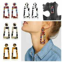 Fashion Women Simple Acrylic Geometric Dangle Drop Hook Earrings Jewelry Gift