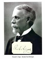 Russell A Alger Autograph Michigan Senator Governor Secretary of War Ohio #2
