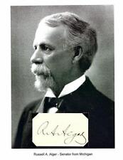 Russell A Alger Autograph Michigan Senator Governor Secretary of War Ohio #2