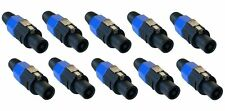 10 Pack x Speakon Plug Male 4 Pole Conductor Speaker Pro Audio Cable Connector
