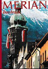 Innsbruck Tirol Österreich Merian Heft 10 / 1975 Reiseführer Bildband Geschichte