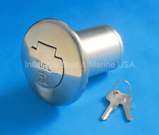 "Boat Deck Fill / Filler - Locking Cap -2"" FUEL Gas Marine Stainless Steel"