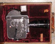Vintage Paillard Bolex H16 Reflex16mm Camera Monital Sopelem Zoom Lens 12:120