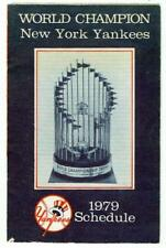 NEW YORK YANKEES ~ 1979 Schedule Brochure ~ FREE SHIPPING