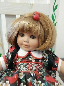 "APPLE ANNIE Marie Osmond/Jo Ann Pohlman 5"" Seated Fruit Cup Porcelain Doll"