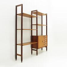Libreria con dettagli in alluminio Faram anni '60, wall unit, mid century modern