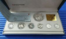 1991 Singapore Sterling Silver Proof Coin Set (1¢ - $5 Coin)