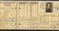 100% original German ww2 Reich RAD document - wehrmacht Luftwaffe