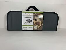 Cuisinart Chefs Classic 10 Piece Stainless Steel Grill Set Tongs Spatula Knife.