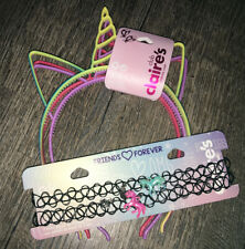Claire's Bff Unicorn Choker Necklace Jewelry Hair Headband Costume Lot