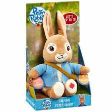 Peter Rabbit TV Collection 24cm Talking Plush Peter Rabbit Soft Toy with Sound