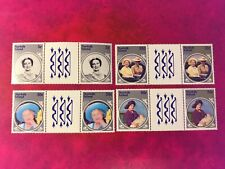 NORFOLK ISLAND 1985 MNH QUEEN MOTHER 85TH BIRTHDAY ROYALTY GUTTER PAIRS