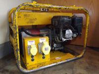 3.5kVA, 2.8kW Long Run Honda Petrol Generator Genny - 110V, 1x 32A, 1x 16A