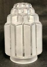 "New 3 1/4"" Fitter Art Deco Skyscraper Table Lamp Shade Globe, 6 1/16"" Ht. #SS967"