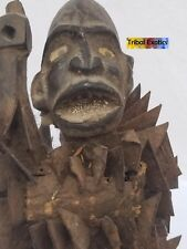 WAS $1,750 - Tribal African Art Bakongo Nkisi Power Figure Sculpture Statue Mask