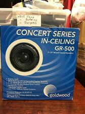 "Goldwood GR-500 Concert Series 2-Way 5 1/4"" Ceiling / In Wall Speakers. NIB"