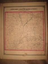 Antique 1874 Mascoutah Township Pensoneau St Clair County Illinois Handcolor Map