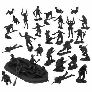 BMC Marx Plastic Army Men US Soldiers - Black 31pc WW2 Figure Set