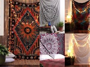 5 pcs lot Mandala Tapestry Indian Wall Hanging Decor Bohemian Hippie Twin Throw